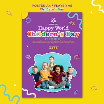 Children's day flyer template