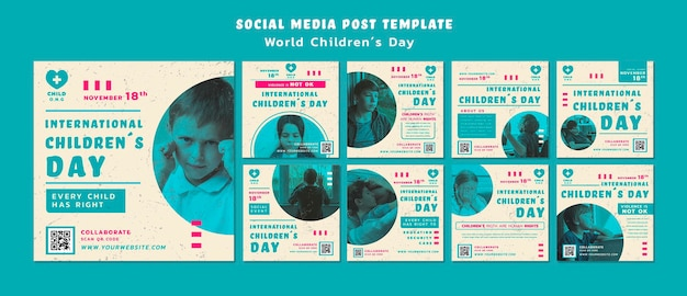 Children's day instagram posts template