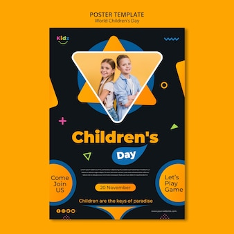 Children's day poster template
