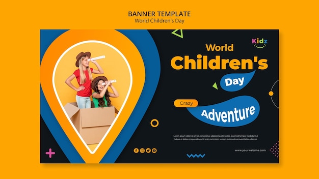 Children's day template banner