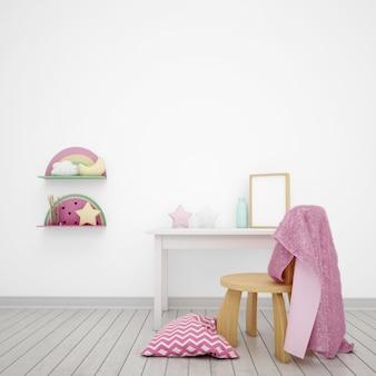 귀여운 물건으로 장식 된 어린이 방