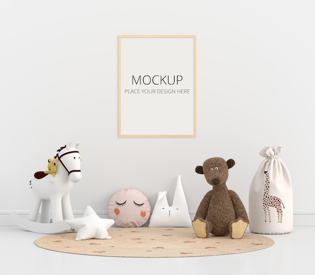 프레임 모형이있는 어린이 방