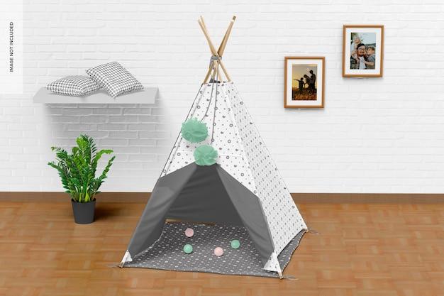 어린이 천막 텐트 모형