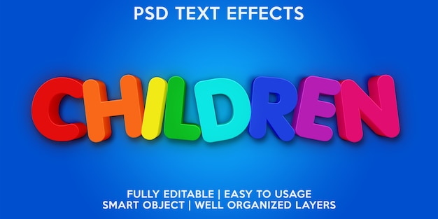 Children text effect