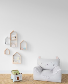 Childroom with armchair and toys
