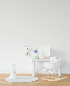 Childroom with desk and toys