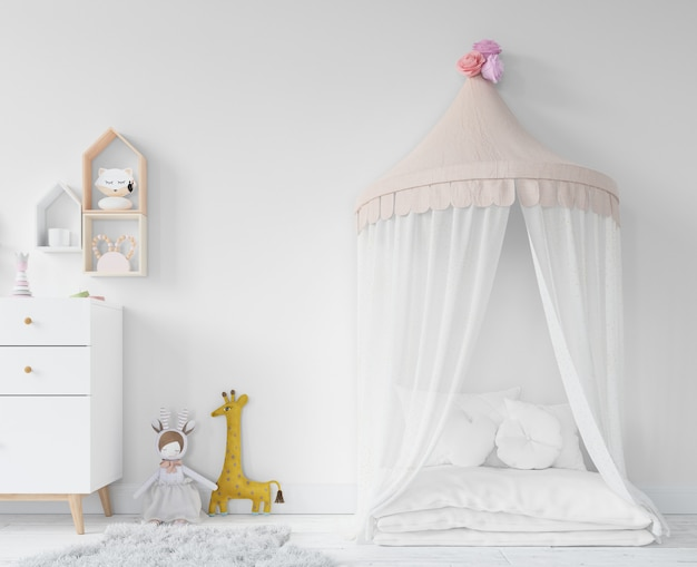 Childroom with princess bed and toys