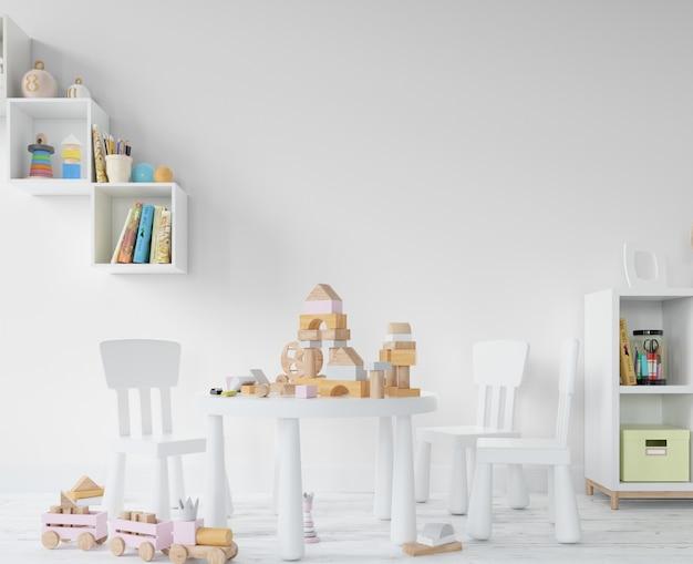 おもちゃと棚のある子供部屋