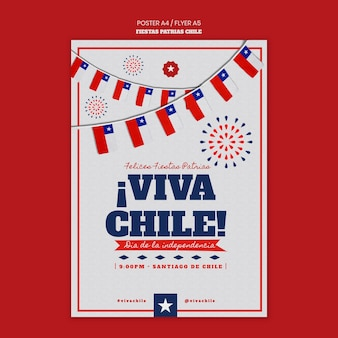 チリ国際デーのポスターデザイン