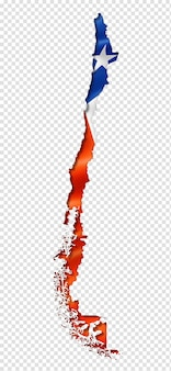 Chilean flag map