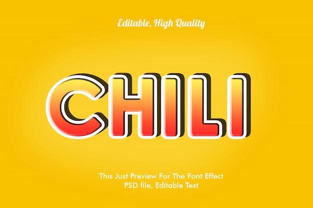 Chili font effect template