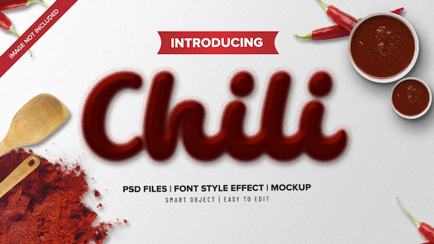 Chili spicy powder font style text effect