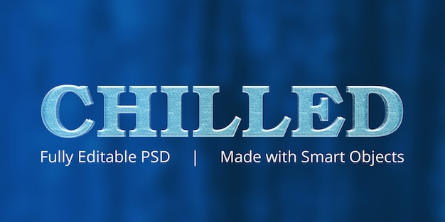 Chilled text style effect
