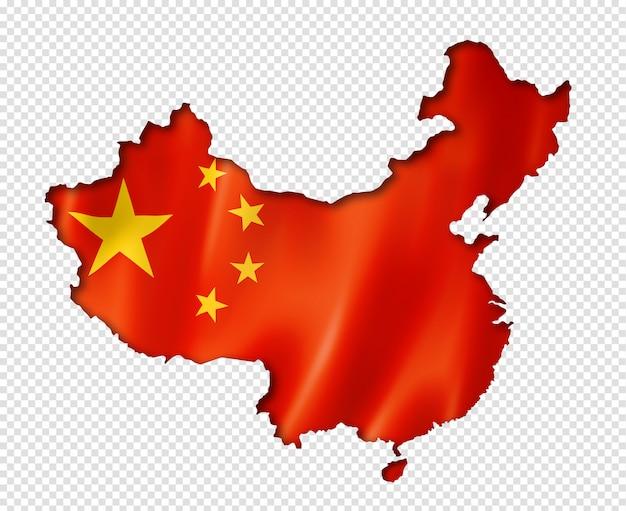 中国の旗地図