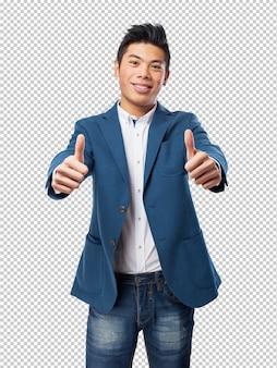 Китайский человек двойной хорошо жест