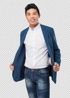Китайский человек улыбается