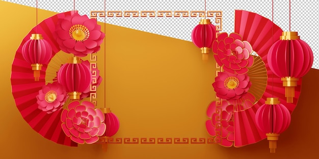 Chinese new year decor for happy new year sign