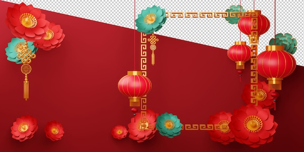 Chinese new year, happy new year with traditional sign