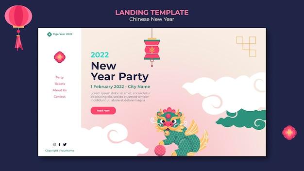 Шаблон домашней страницы китайского нового года
