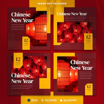 Chinese new year social media template