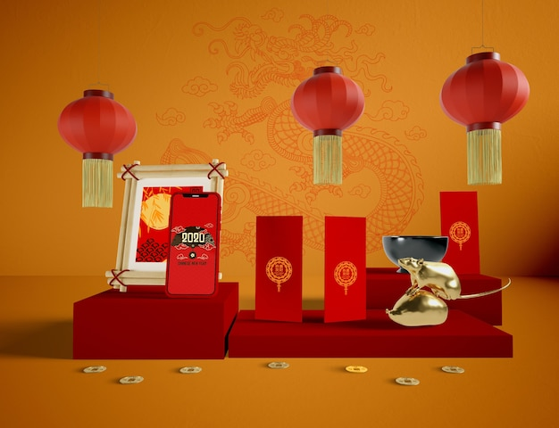 Chinese new year traditional elements