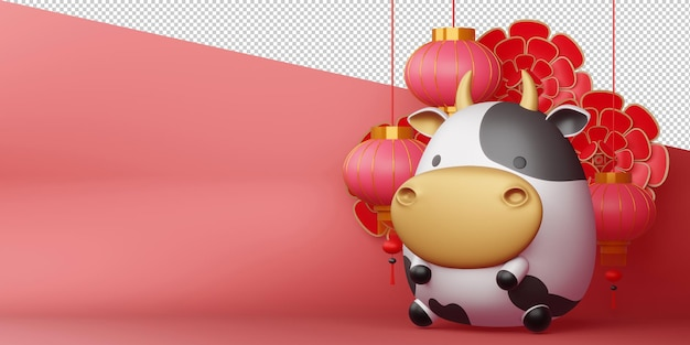 Chinese new year, year of the ox rendering