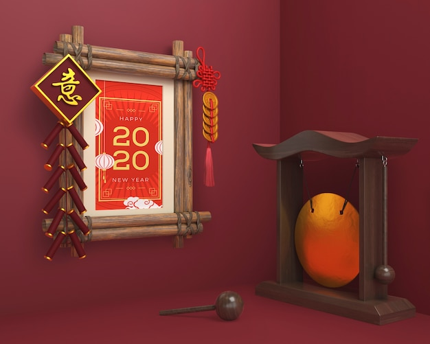 Chinese ornaments and frame for new year