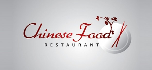 Chinese restaurant logo template