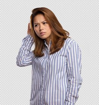 Chinese woman listening