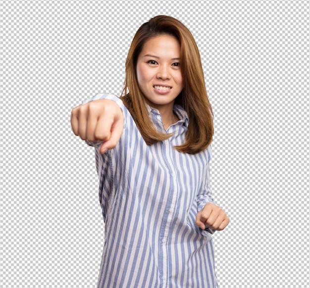 펀칭 중국 여자
