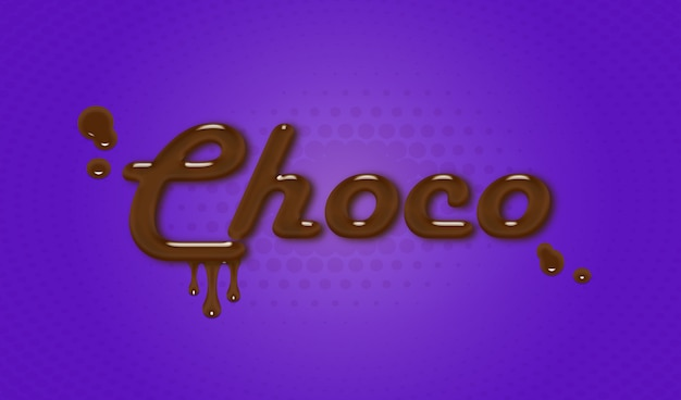 Choco-text-effect-psd
