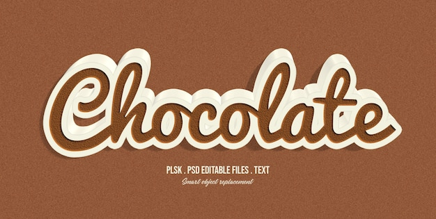 Chocolate 3d text style effect