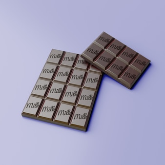 Chocolate bar mockup with changeable background color