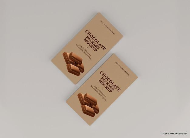 分離されたチョコレートバーパッケージのモックアップデザイン