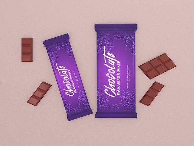 초콜릿 바 포장 프로토 타입 무료 PSD 파일