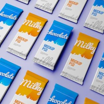 Chocolate bar packaging psd mockups