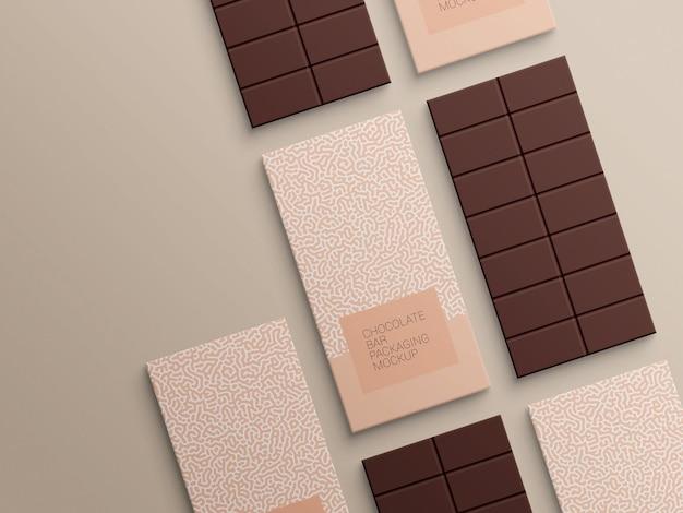 초콜릿 바 포장지 포장 모형 디자인