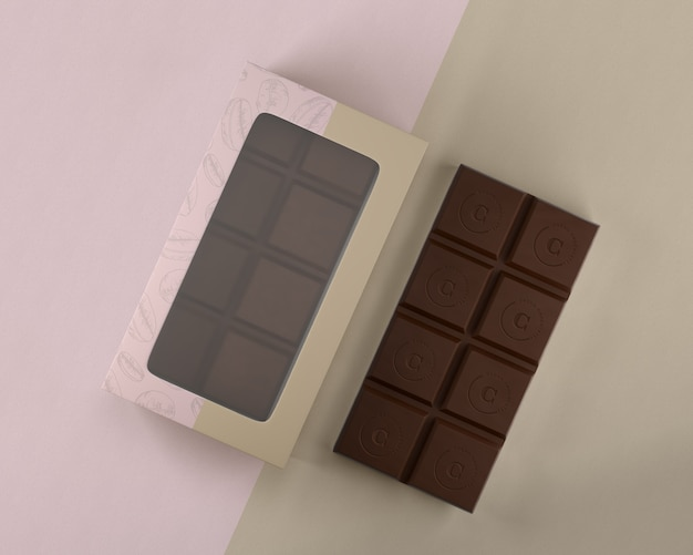 Chocolate box design mock-up
