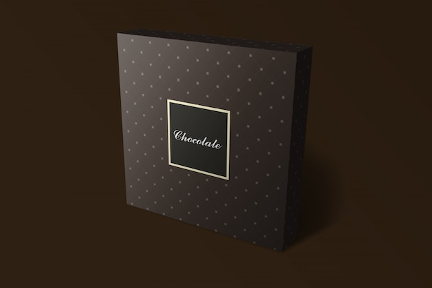 Chocolate box mockup