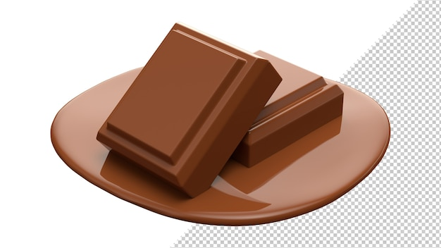 Chocolate cocoa 3d realistic rendering isolate