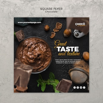 Chocolate concept banner template