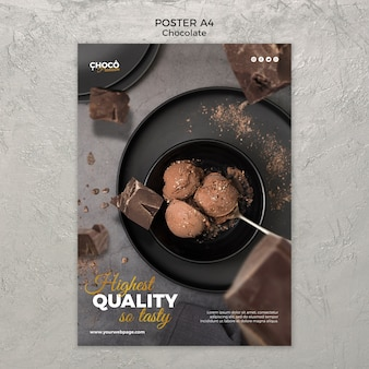 Chocolate concept poster design