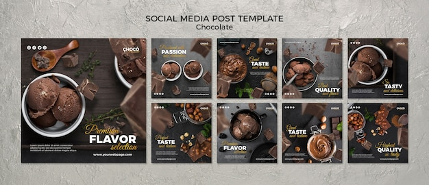 Chocolate concept social media post