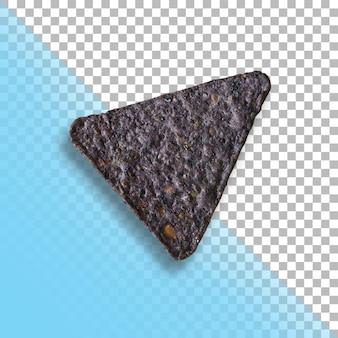 투명 한 배경에 고립 된 초콜릿 크래커입니다.