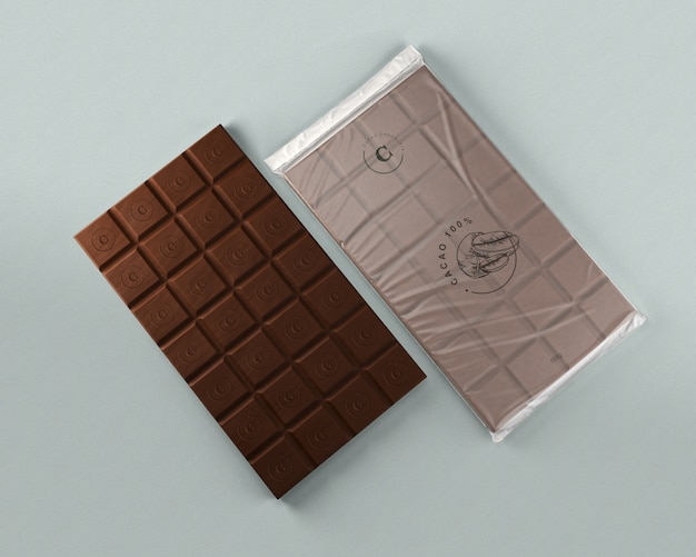 Chocolate foil wrapping mock-up