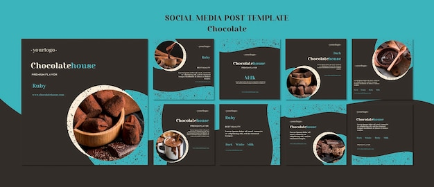 Chocolate house posts template
