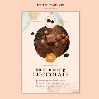 Chocolate lover flyer template