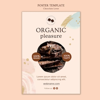 Chocolate lover poster template