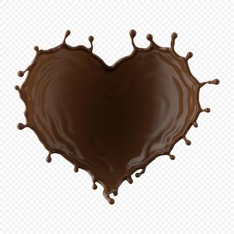 チョコレートミルクハート形スプラッシュ分離