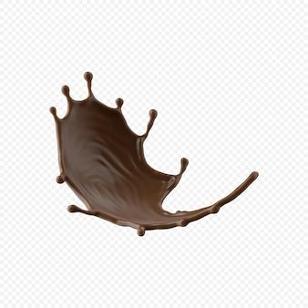 チョコレートミルクスプラッシュ分離